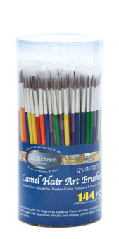 Jack Richeson Camel Hair Brush with Plastic Handle- Assorted Colors