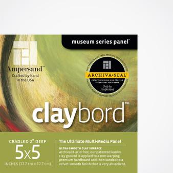 Ampersand Museum Series Claybord Cradled 2-Inch 5x5