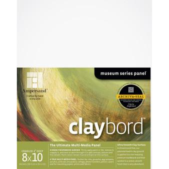 Ampersand Museum Series Claybord Cradled 2-Inch 8x10