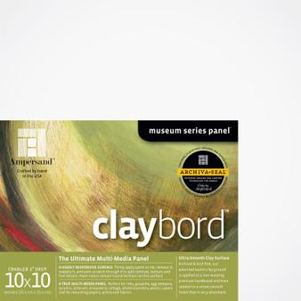 Ampersand Museum Series Claybord Cradled 2-Inch 10x10