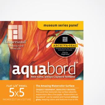 Ampersand Museum Series Aquabord Flat 5x5 4pk