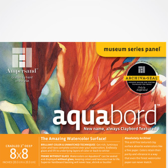 Ampersand Museum Series Aquabord Cradled 2-Inch 8x8