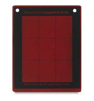 Compose It Grid Pocket Red 3x4