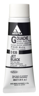 Holbein Acryla Gouache Series 1 40ml: Jet Black