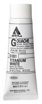 Holbein Acryla Gouache Series 1 40ml: Titanium White