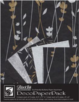 Wyndstone Deco Paper Pack Meadow Flower Black