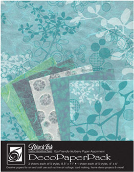 Wyndstone Deco Paper Pack Chinaberry Aqua