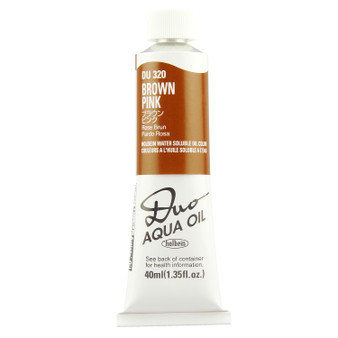 Holbein Duo Aqua Oil Series B 40ml: Brown Pink