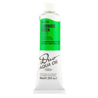 Holbein Duo Aqua Oil Series C 40ml: Luminous Green