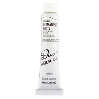 Holbein Duo Aqua Oil Series W 50ml: Permanent White