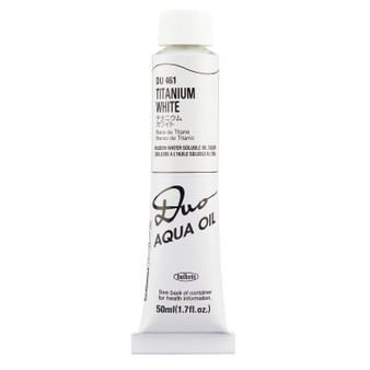 Holbein Duo Aqua Oil Series W 50ml: Titanium White
