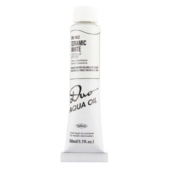 Holbein Duo Aqua Oil Series W 50ml: Ceramic White