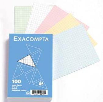 Exacompta Index Cards 3.9x5.9-Inch