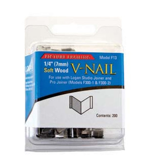 Logan Framing Accessory V-Nail 1/4-Inch Soft Wood 200pk