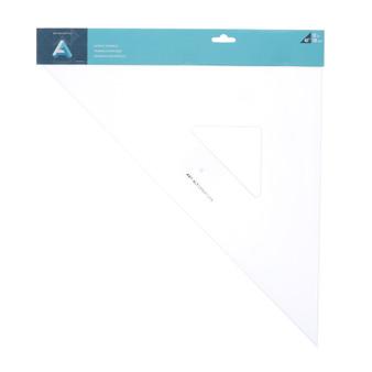 "Art Alternatives Acrylic Triangles Clear 45/90 12"""