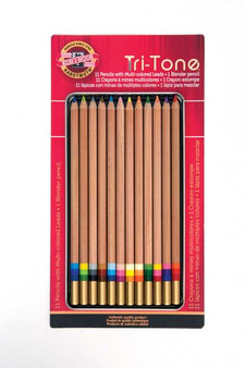 Koh-I-Noor Tri-Tone Pencil 12 Set