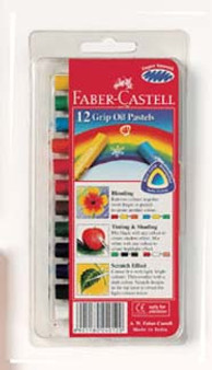 Faber-Castell Red Label Grip Oil Pastel 12pk