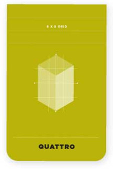 "Hand Book Journal Quattro Pad 3.4""x5.5"" 8x8 Grid"