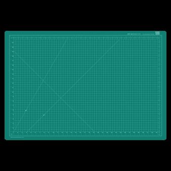 Art Alternatives Self-Healing Cutting Mat 24x36 Black/Green