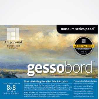 Ampersand Museum Series Gessobord Cradled 1.5-inch 8x8