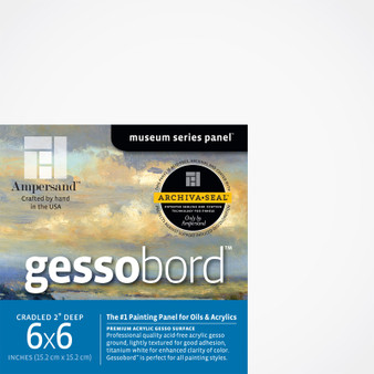 Ampersand Museum Series Gessobord Cradled 2-Inch 6x6