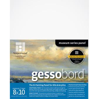 Ampersand Museum Series Gessobord Cradled 2-Inch 8x10