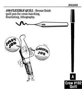 Speedball Pen Nib Flex Quill 108