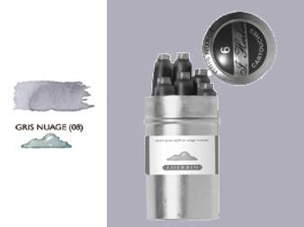 J. Herbin Fountain Pen Ink Cartridges 6pk Gris Nuage