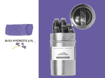 J. Herbin Fountain Pen Ink Cartridges 6pk Bleu Myosotis