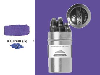 J. Herbin Fountain Pen Ink Cartridges 6pk Blue Nuit