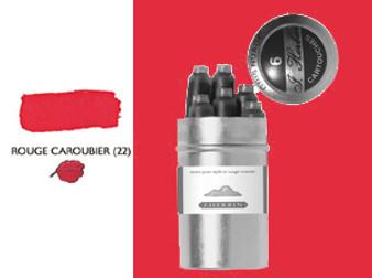 J. Herbin Fountain Pen Ink Cartridges 6pk Rouge Caroubier
