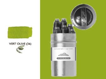 J. Herbin Fountain Pen Ink Cartridges 6pk Vert Olive