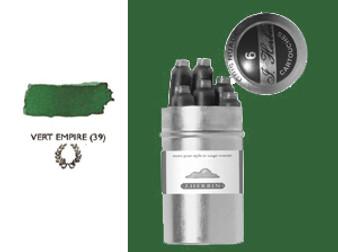 J. Herbin Fountain Pen Ink Cartridges 6pk Vert Empire