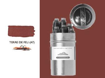 J. Herbin Fountain Pen Ink Cartridges 6pk Terre De Feu