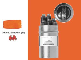 J. Herbin Fountain Pen Ink Cartridges 6pk Orange Indien
