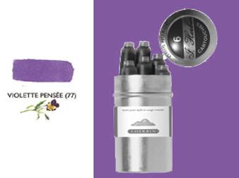J. Herbin Fountain Pen Ink Cartridges 6pk Violette Pensee