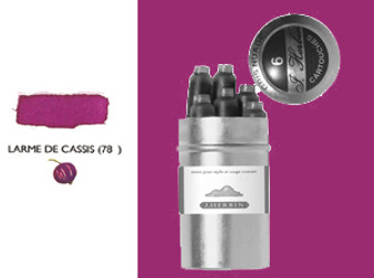 J. Herbin Fountain Pen Ink Cartridges 6pk Larme De Cassis