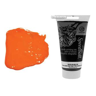 Speedball Water-soluble Block Ink 75cc Orange