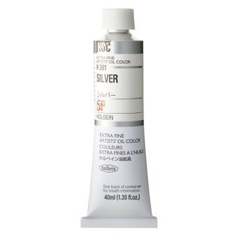 Holbein Artists Oil 40ml Silver