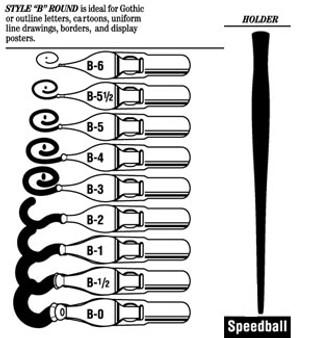 Speedball Pen Nib Lettering B-5-1/2