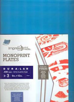 Grafix Impress Print Media .030 Monoprint Plates 9x12 3 Pack