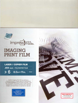 Grafix Impress Print Media Imaging Print Film for Laser Printers 8.5x11 6 Pack