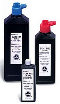Yasutomo Liquid Sumi Ink 6 Oz Black Jar