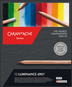 Caran D'Ache Luminance Colored Pencil Set 12