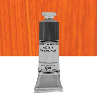 Michael Harding Artist Oil Colour 40ml Indian Yellow Red Shade
