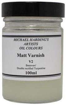 Michael Harding Varnish: Matt 100ml - Domestic U.S. Shipping Only