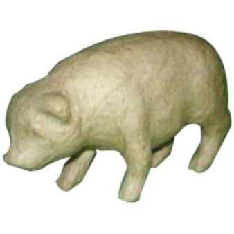 "Paper Mache Pig - Style #1 4.7x3"""
