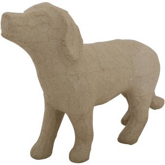 "Paper Mache Dog - Style #2 10.5x6.6"""