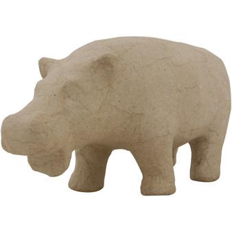 "Paper Mache Hippopotamus 9x4.3"""