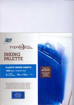 Grafix Impress Print Media Inking Palette Pad 9x12 25 Sheets